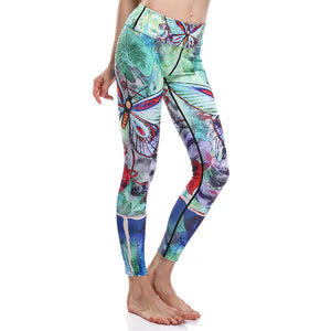 Butterfly Nature Green Yoga Pants - 3D Printed Leggings-Hoodie Time - Anime and Gaming Hoodies