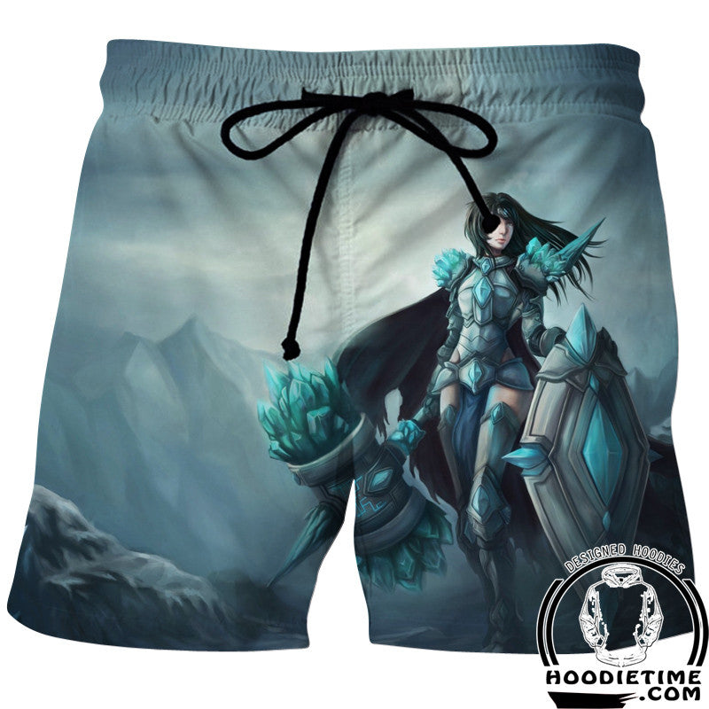 Female Taric Board Shorts - League of Legends Swim Trunks Styled Shorts-Hoodie Time - Anime and Gaming Hoodies