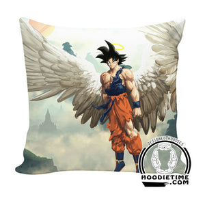 Angel Goku Throw Pillow - Dragon Ball Z Couch Pillow - Double Printed-Hoodie Time - Anime and Gaming Hoodies