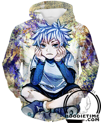 Killua missing gon hoodie 3d hunter x hunter shirts clothes