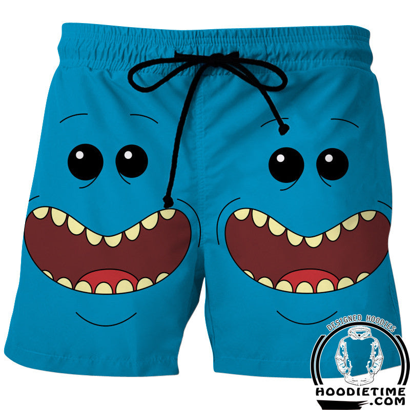 MR Meeseeks board shorts rick and morty