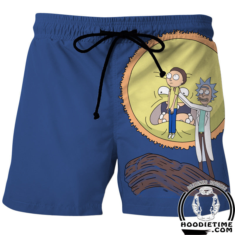 Rick and morty lion king swim trunks board shorts
