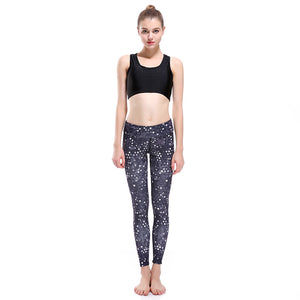 3d cool design printed black and white dots yoga pants