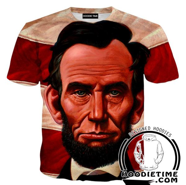 Abraham Lincoln T-Shirt - American Political Clothing-Hoodie Time - Anime and Gaming Hoodies