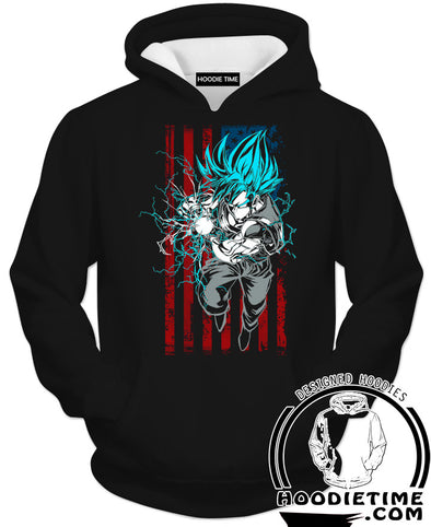 American Goku Hoodie - Dragon Ball Hoodies-Hoodie Time - Anime and Gaming Hoodies