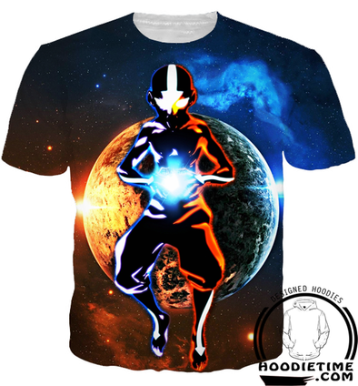 Avatar The Last Airbender Shirts - Aang Avatar Mode T-Shirt - 3D Clothing-Hoodie Time - Anime and Gaming Hoodies