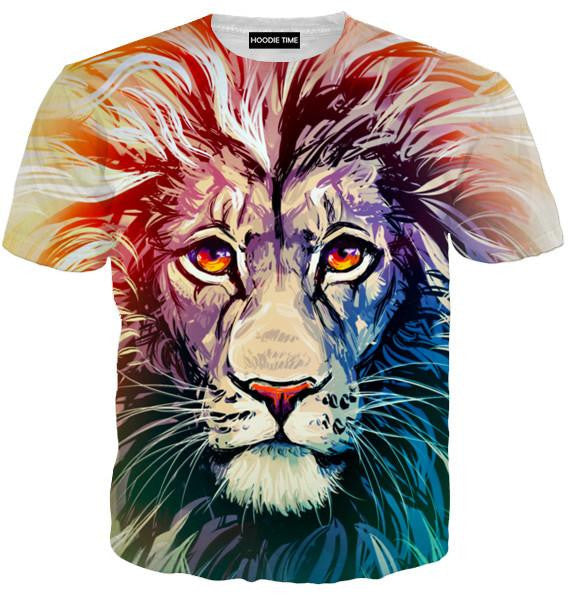 Beautiful Lion T-Shirt - 360 Printed Clothing-Hoodie Time - Anime and Gaming Hoodies