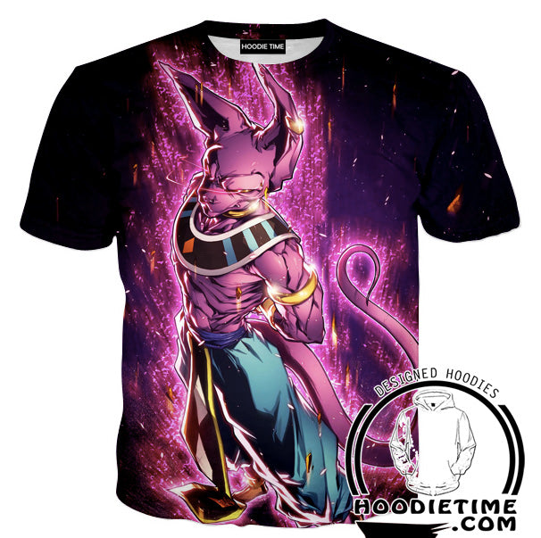 Dragon Ball Super Shirts - Lord Beerus T-Shirt - Clothing-Hoodie Time - Anime and Gaming Hoodies