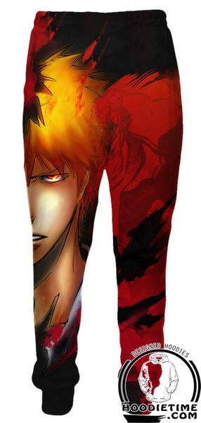 Bleach Pants - Ichigo Half Face Sweatpants - Bleach Clothes-Hoodie Time - Anime and Gaming Hoodies