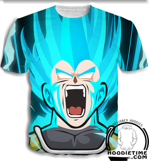 Vegeta Rage T-shirt 3d clothes