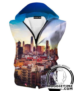 Chicago City Hooded Tank - Chicago City Clothes-Hoodie Time - Anime and Gaming Hoodies