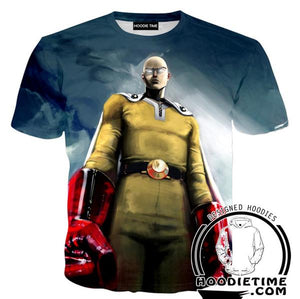 Cool Saitama T-Shirt - One Punch Man Shirts - Anime Clothing-Hoodie Time - Anime and Gaming Hoodies