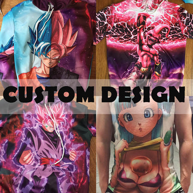 Custom Design Dragon Ball Z Clothing - Hoodies, Shirts, Tank Tops, Sweatpants-Hoodie Time - Anime and Gaming Hoodies