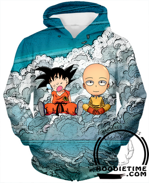 Saitama and Kid Goku 3D hoodie hoodies dragon ball z