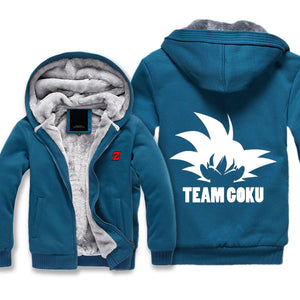 Dragon Ball Z Fleece Jacket - Team Goku Jacket Hoodie - Thick-Hoodie Time - Anime and Gaming Hoodies