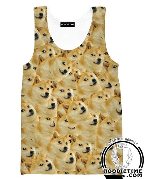 Dog Clothing - Funny Dog Tank Top-Hoodie Time - Anime and Gaming Hoodies