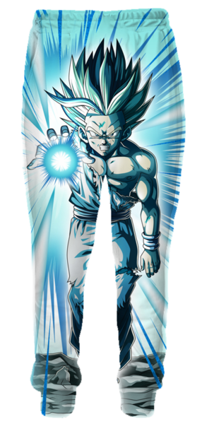 Dragon Ball Z Sweatpants - Super Saiyan 2 Gohan Kamehameha Sweatpants-Hoodie Time - Anime and Gaming Hoodies