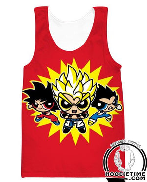 Dragon Ball Z Power Puff Girls Tank Top - Dragon Ball Z Gym Shirts Full Printed Clothing-Hoodie Time - Anime and Gaming Hoodies