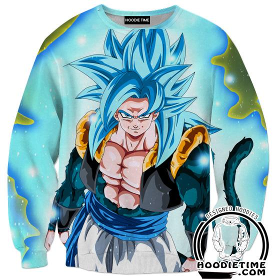 Dragon Ball Z Sweaters - Super Saiyan Blue Gogeta 5 Sweatshirt - DBZ Clothing-Hoodie Time - Anime and Gaming Hoodies