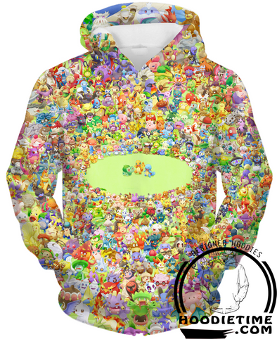 Every pokemon hoodie hoodies 3d 151 clothes
