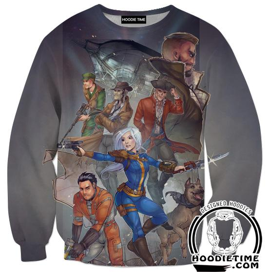 Fallout 4 Sweatshirt - All Character Sweaters - Video Game Clothing