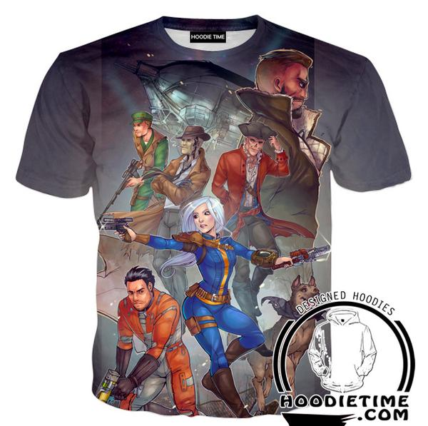 Fallout 4 T-Shirt - All Character Shirts - Video Game Clothing