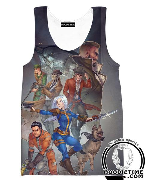Fallout 4 Tank Top - All Character Gym Shirts - Video Game Clothing