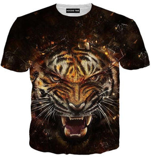 Fierce Tiger Tank Top - 360 Printed Gym Shirts-Hoodie Time - Anime and Gaming Hoodies