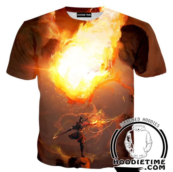 Fire Bending Shirt - Fire Magic T-Shirt-Hoodie Time - Anime and Gaming Hoodies