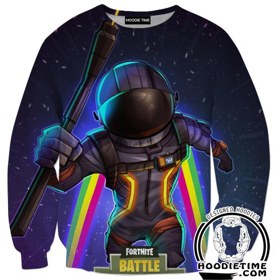 Fortnite Astronaut Sweatshirt - Battle Royale Sweaters Gaming Clothing-Hoodie Time - Anime and Gaming Hoodies
