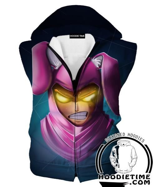 Fortnite Bunny Skin Hooded Tank - Fortnite Hoodies Clothing-Hoodie Time - Anime and Gaming Hoodies