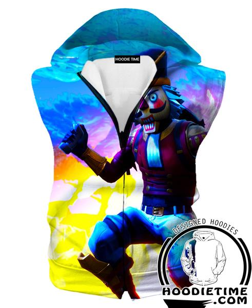 Fortnite Crackshot Hooded Tank - Crackshot Skin Fortnite Hoodies and Clothing