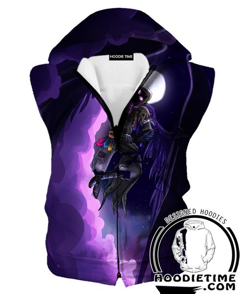 Fortnite Grim Reaper Hoodie Tank - Fortnite Hoodies Clothing-Hoodie Time - Anime and Gaming Hoodies