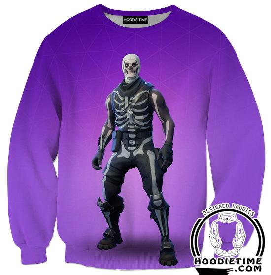 Fortnite Skull Trooper Sweatshirt - Fortnite Clothing-Hoodie Time - Anime and Gaming Hoodies