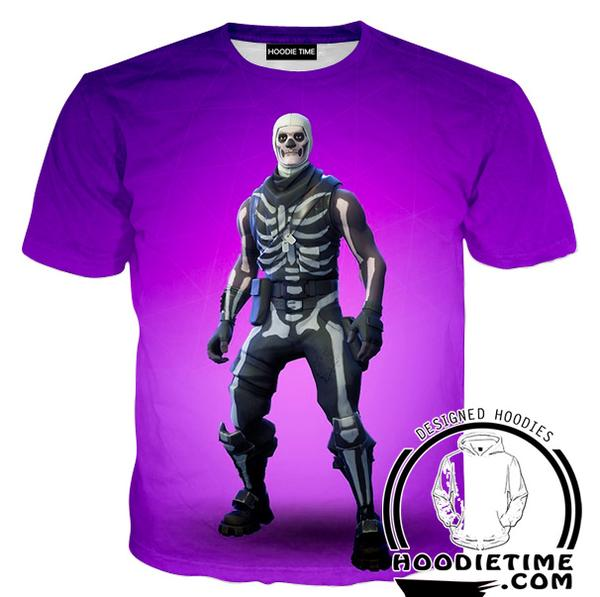 Fortnite Skull Trooper T-Shirt - Fortnite Clothing-Hoodie Time - Anime and Gaming Hoodies