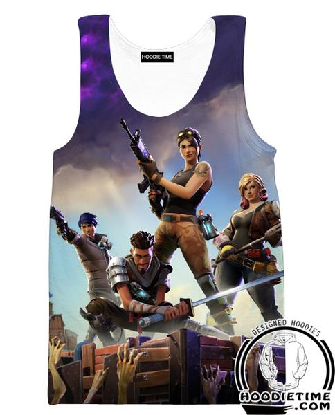 Fortnite Tank Top - Battle Royal Gym Shirts Gaming Clothing-Hoodie Time - Anime and Gaming Hoodies