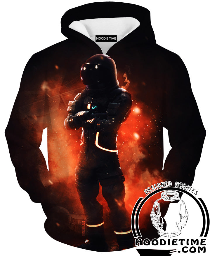 Fortnite Astronaut Hoodie - Fortnite Apparel-Hoodie Time - Anime and Gaming Hoodies