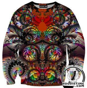 Abstract Color Hoodies - Colorful Abstract Hoodie-Hoodie Time - Anime and Gaming Hoodies