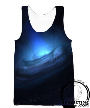 Galaxy Tornado Storm Tank Top - 360 Printed Gym Shirt-Hoodie Time - Anime and Gaming Hoodies