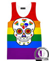 Gay Pride Skeleton Tank Top - Gay Pride Apparel-Hoodie Time - Anime and Gaming Hoodies