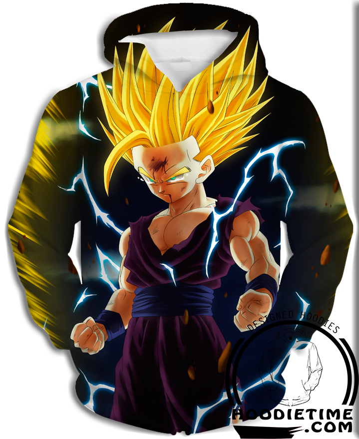 Teen Gohan ssj2 super saiyan 2 Hoodies hoodie dbz dragon ball z