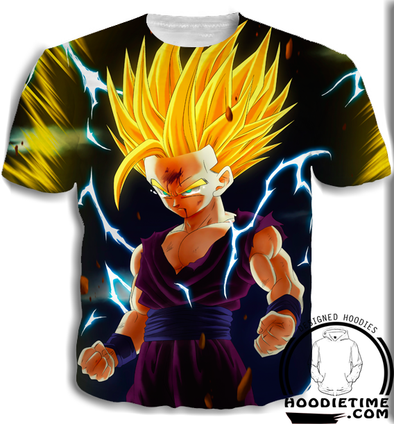 Teen Gohan SSJ2 T-Shirt powers up cell dragon ball z