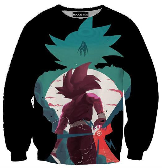 Gohan Vs Cell Sweatshirt - Dragon Ball Z Sweaters and Clothing-Hoodie Time - Anime and Gaming Hoodies