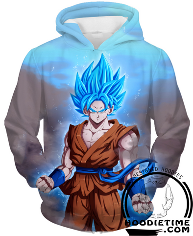 Dragon Ball Super Z - SSJ Blue Super Saiyan Blue Goku - Pullover 3D Hoodie-Hoodie Time - Anime and Gaming Hoodies
