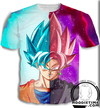 Super saiyan rose black goku and ssb blue goku t-shirt