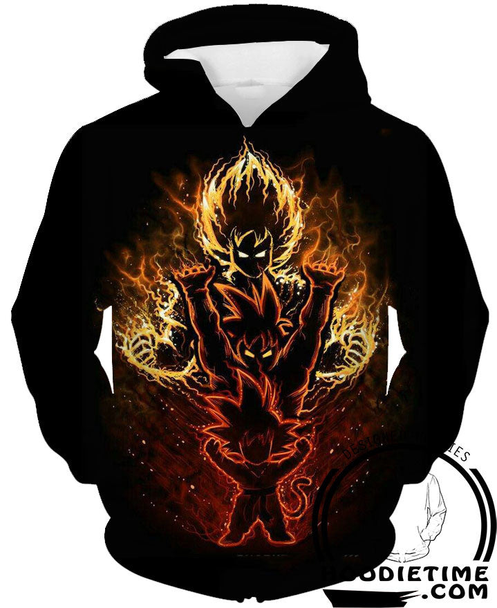 Kid goku, super saiyan goku hoodie 3d clothes dragon ball z