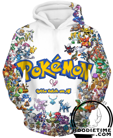 151 pokemon pullover 3d hoodie gotta catch them all