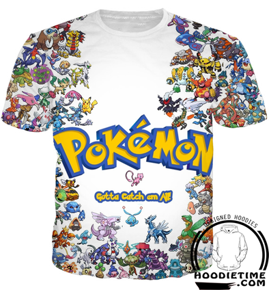 Pokemon - Gotta Catch Them All T-Shirt - 3D Shirt-Hoodie Time - Anime and Gaming Hoodies