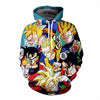Dragon Ball Z - Many Forms of Gohan SSJ Mystic Super Saiyan - 3D Fashion Style Pullover Hoodie-Hoodie Time - Anime and Gaming Hoodies
