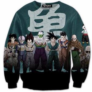 dragon ball z end of z sweatshirt, gohan tien piccolo vegeta